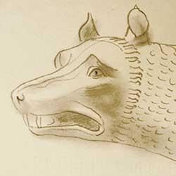 Die römische Wölfin von Gerhard Marcks