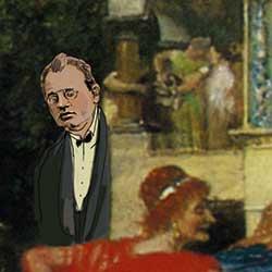 """Max Reger im Gemälde """"Das Bacchantenfest"""""""
